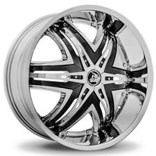"Diablo Elite 26x10 6x135/6x5.5"" +30mm Chrome/Black Wheel Rim"