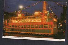 L@@K  Illuminated Tramcar Blackpool Illumuniations 1970's? Bamforth Postcard