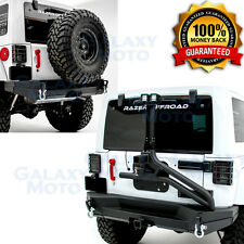 07-17 Wrangler JK Tire Carrier+Rear Bumper+Single handed Linkage Operated+Hitch