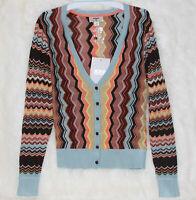 NWT! MISSONI for Target Womens Colorblock Zig Zag Cardigan Sweater XS