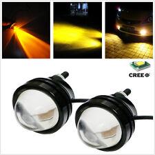 2Pcs Yellow 5W CREE Car SUV Driving Fog Light Daytime Running Work DRL Tail Lamp