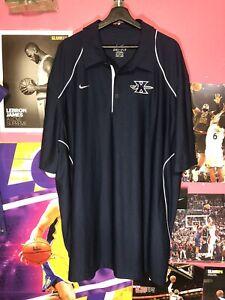 NWT Xavier Musketeers Nike Dri-Fit Polo Shirt Blue Stitch Logo Men 3XL