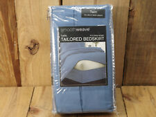 Twin Bed Tailored Bedskirt Blue 14 in drop length