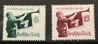 GERMANY - DEUTSCHES REICH 1935 HITLER YOUTH  MI: 584 - 585  Sc463 64  MLH