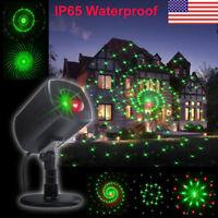Christmas Star Laser Projector Shower Light LED Motion Landscape Lamp Waterproof