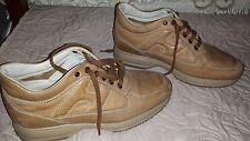 Sneakers Scarpe uomo Hogan interactive in pelle marrone