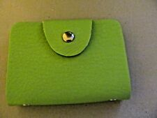 Leather Credit Card / Business Card Case (Lime Green)  (New)