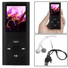 Mp3 Mp4 Player 64Gb Media Video Radio Fm Voice Record Digital LCD Screen Black