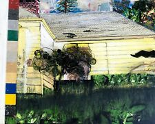 SAY GREEN Yellow House Object Collage Painting - Steven Tannenbuam Original Art