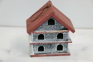 Primitives by Kathy Church Rustic Birdhouse - White & Maroon