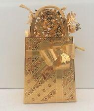 Danbury Mint Gold Ornament Collection 2006 Christmas Gift Bag