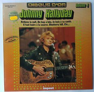 """JOHNNY HALLYDAY 4 - LP EXCELLENT ETAT ! ♦ DISQUE D'OR """"IMPACT"""" - RETIENS LA NUIT"""