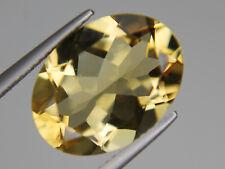 Citrine Oval Big Loose Gemstone VVS 16x12mm 8.76ct Natrual Yellow Brazil