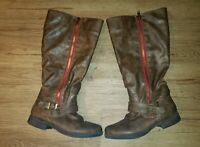 Women's Knee high boots. Journee Collection. Size 9.5 Brown. Zip up