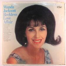 WANDA JACKSON: Reckless Love Affair LP (Mono, drill hole, partial shrink)