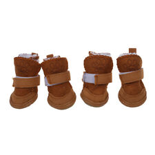 Pet Dog Snow Shoes Warm Winter Boots Protective Booties Set of 4 CoffeeY4Y4