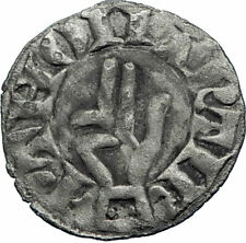 1000AD FRANCE Besancon Medieval Antique Silver FRENCH Coin CROSS HAND  i71776