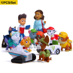 12PCS/Set Paw Patrol Action Figures Puppy Dog Cake Toppers Toy Kids Present UK