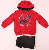Marvel Spider-Man Kids Boys Hoodie Red w/Sweatpants Grey Size 2 (92 Cm) NWT