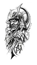 Chinese SAMURAI impermeabile tatuaggio temporaneo adesivo * UK Venditore */- m218 -/