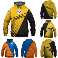 Pittsburgh Steelers Hoodies 3D Print Sweatshirts Football Hooded Pullover Jacket
