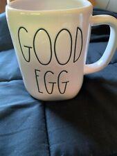 RAE DUNN Easter 'GOOD EGG' Ivory Ceramic Mug With Lrg. Blk. Letters Sticker