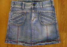 Girls Mary Kate & Ashley Denim Skirt Size 12. Medium Wash Slant Pockets.