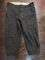 Vintage Woolrich Classics Pants Wool Malone Heavy 1990 Mens 34 Gray Plaid Check