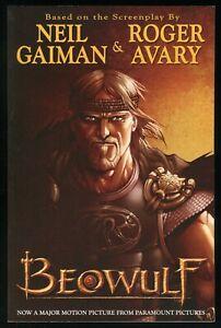 Beowulf Trade Paperback TPB 2007 Movie Adaptation Neil Gaiman Grendel Dragon 1st