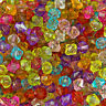 500 Mixed Acrylic Plastic Transparent Faceted Bicone Spacer Beads 6mm