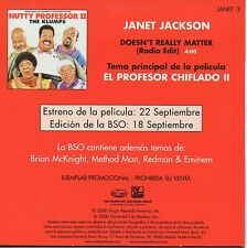 "JANET JACKSON ""DOESN'T REAL"" RARE SPANISH PROMO CD SINGLE / PROFESOR CHIFLADO II"