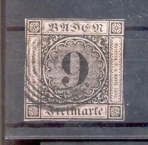 Baden 4a Übl.schnitt Postmarked BPP (A3343