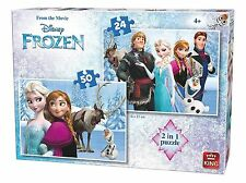 NEW! King Disney Frozen 2 in 1 Puzzle Set 24 & 50 piece jigsaws Age 4+