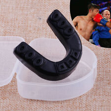 Boxing Teeth Protector Mouth Guard Piece Gum Shield +case for Gym Hockey Sports