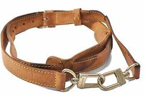 """Authentic Louis Vuitton Leather Shoulder Strap Beige 40.6-47.6"""" LV D2370"""