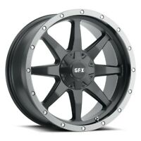 "18"" G-FX TR-14 Matte Black with Grey Ring Wheel 18x9 6x5.5 12mm Truck/SUV Rim"