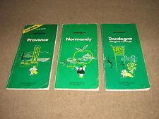 Tre vintage Michelin pneumatici Co. LIBRI di carte per la Francia Normandia Dordogna Provence