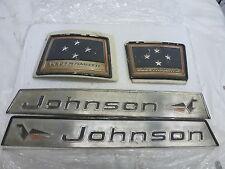 1964 JOHNSON RKL-26 40HP HOOD COWL COVER EMBLEM SET BOAT MOTOR