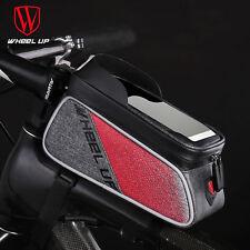 Phone Holder Waterproof Cycling Bicycle Front Frame Top Tube Bag Road MTB Bike