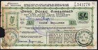 1966 Irish 5/- Postal Order - Used
