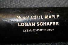 LOGAN SCHAFER GAME USED CHANDLER MODEL WOOD BAT MILWAUKEE BREWERS OUTFIELDER
