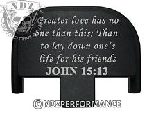 Rear Slide Plate for Smith Wesson S&W SD9 SD40 VE 9mm 40BK Bible John 15:13