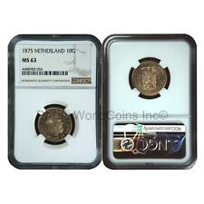 Netherlands 1875 10 Gulden Gold NGC MS63 SKU# 6629