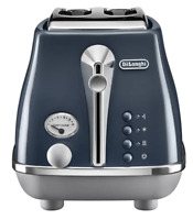 Delonghi CTOC2003BL Icona Capitals 900W 2 Slice Toaster - London Blue