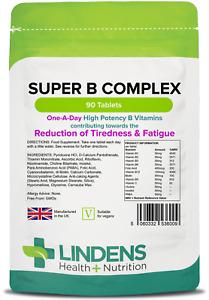 Super Vitamin B Complex plus Vitamin C -energy/metabolism (90 tablets) [6009]