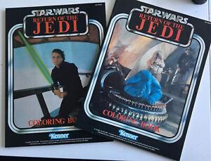 2x Star Wars Vintage Kenner JEDI Colouring In Book Unused A4  Both Luke + Rebo