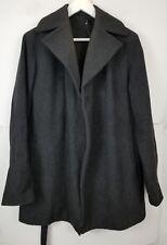 SISLEY Men's Jacket Coat Italy Gray Wool Blend Size Small