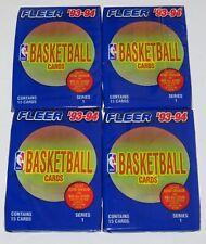 1993-94 Fleer NBA Basketball Series 1 15-Card Pack x 4 Brand New Factory Sealed