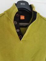 "Mens HUGO BOSS ""Orange"" label cotton mix jumper/sweater. Size small. RRP £149"