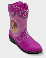 *Disney Princess Toddler Girls' Glitter Detail Slip On Cowboy Boots, Pink